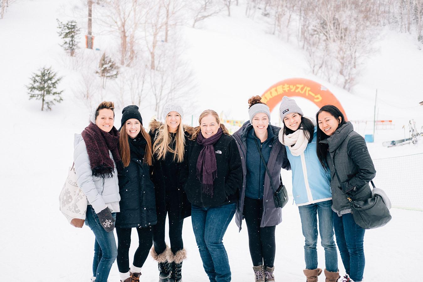 A Group Shot of Teachers on a Ski Slope