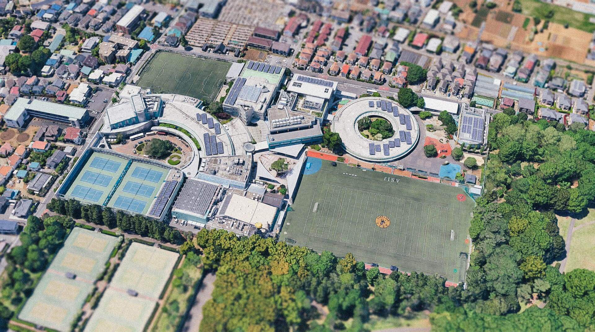 ASIJ Chofu Campus Aerial Shot