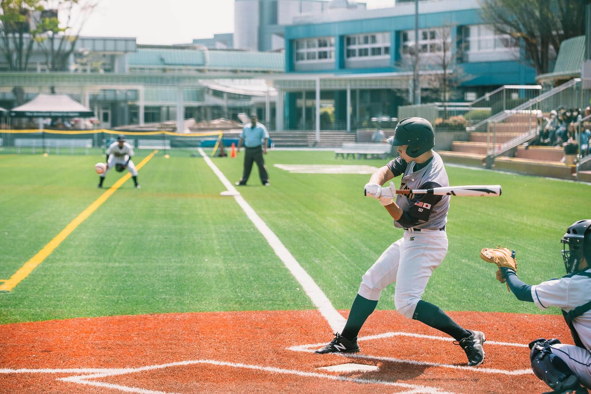 High School Baseball Game on the ASIJ  Field