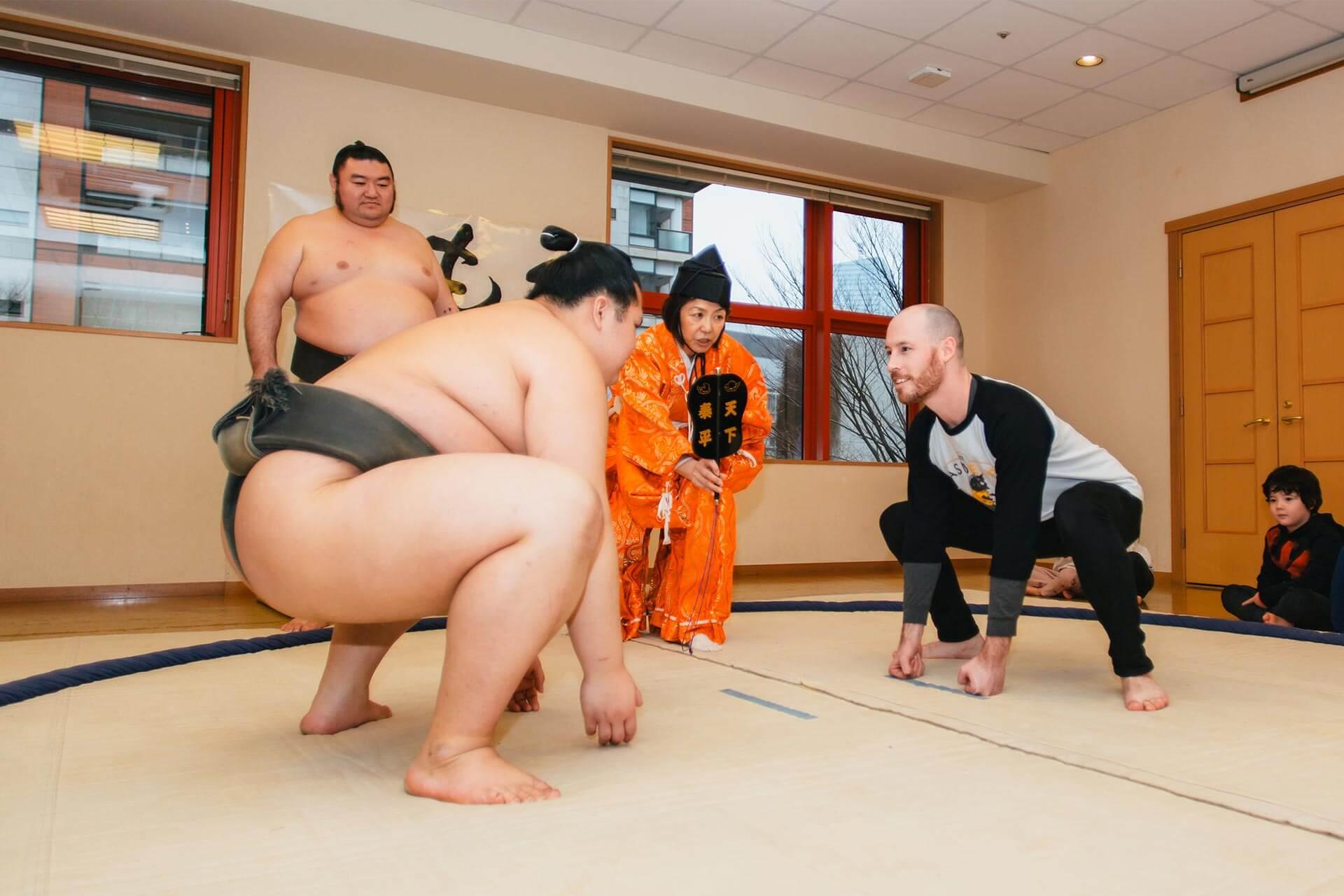 a Teacher Prepares to Wrestle a Sumo Wrestler