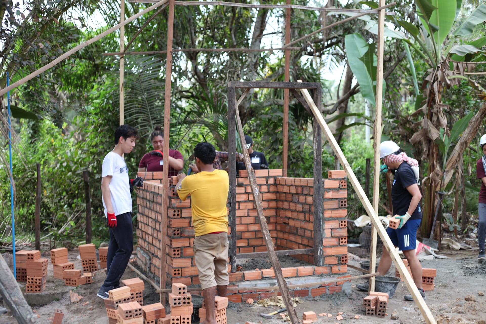 High School Students Build a House in Southeast Asia