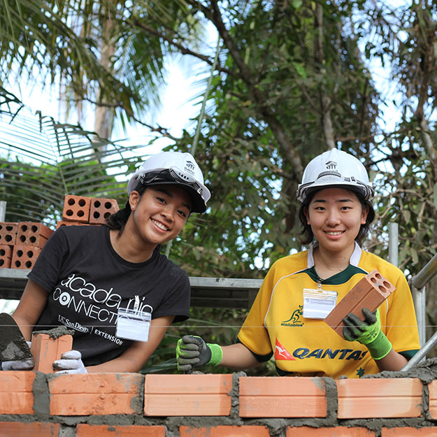 ASIJ High School Students Build a House for the Needy in South East Asia