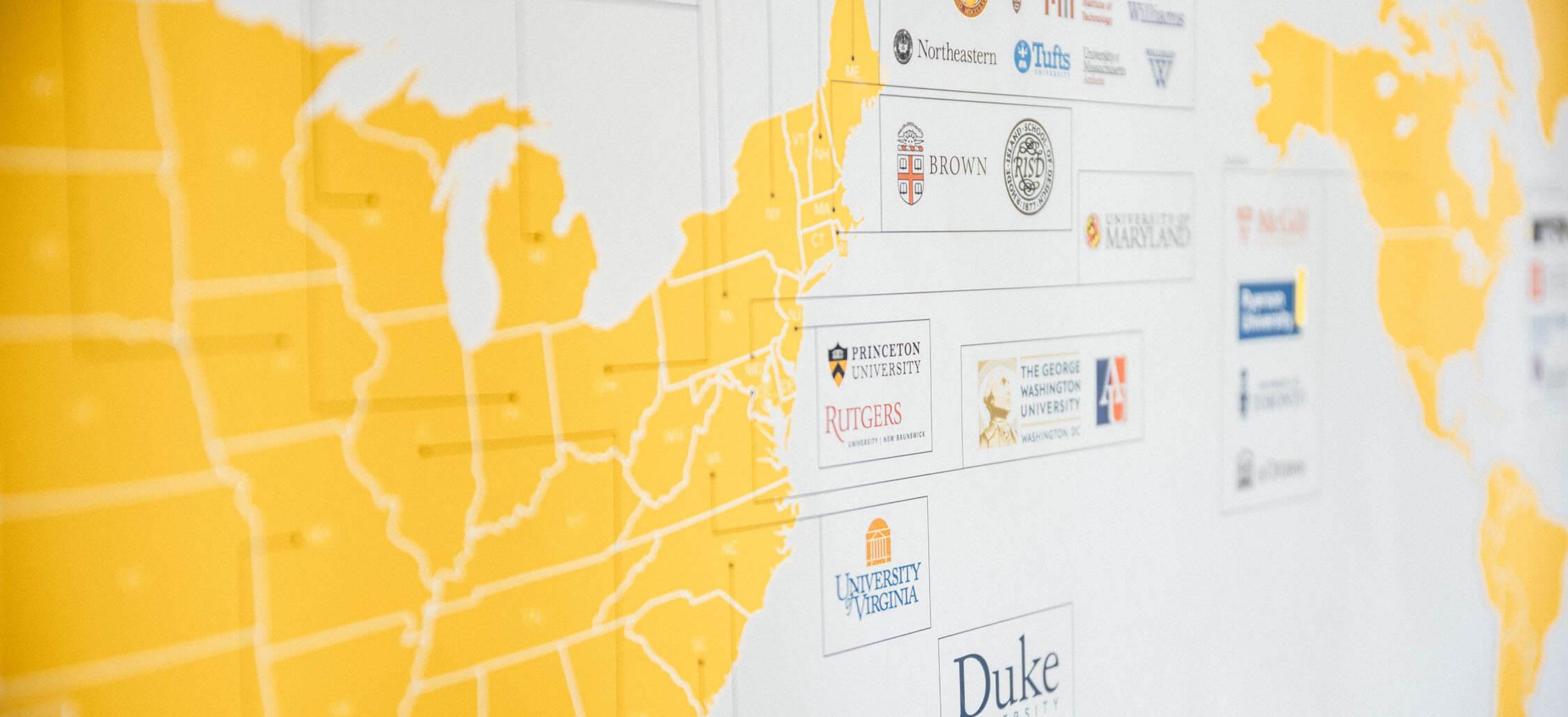 Map of ASIJ Graduates University Acceptances