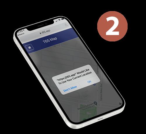 T65 Locator App Location