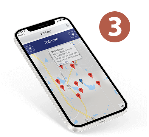 T65 Locator App Usage