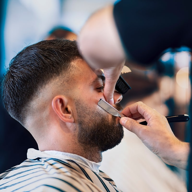 The best barbers in orange talk hair and beard combinations.