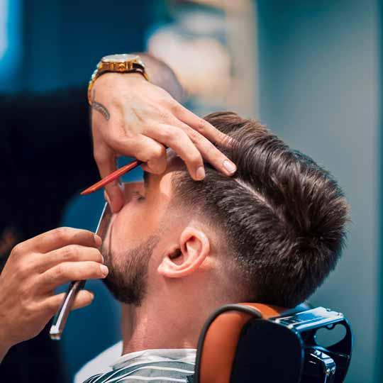 Retro mid fade hair cut
