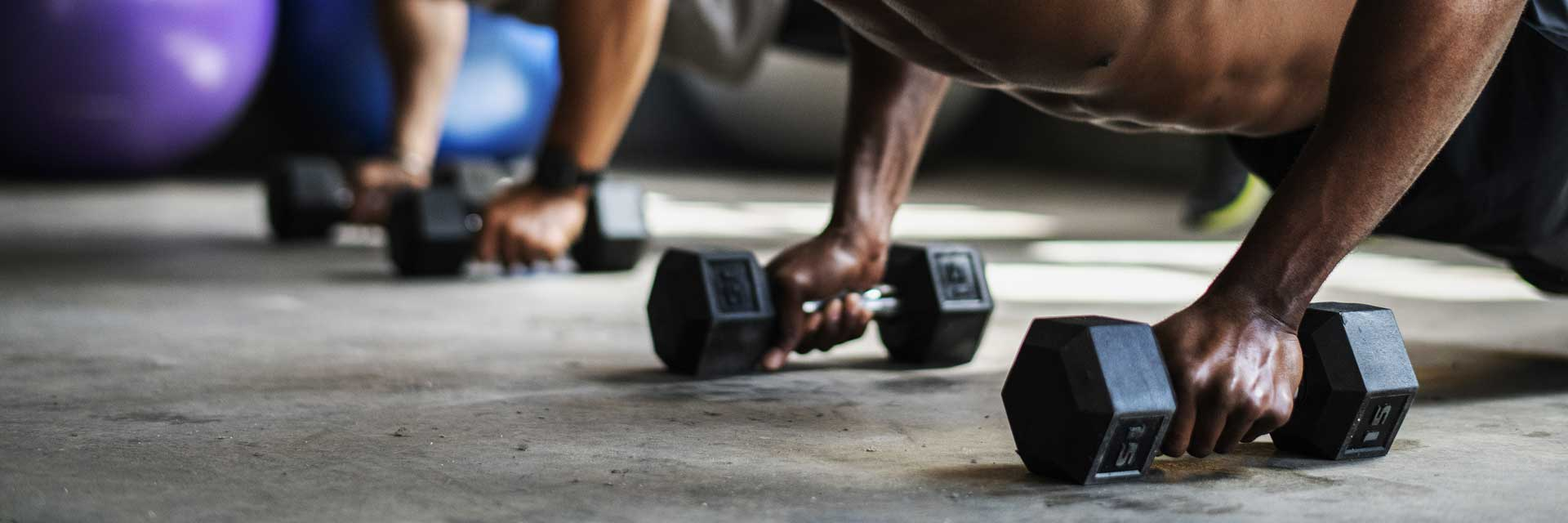 Men's Fitness - Training in the gym