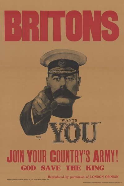 British Army Poster - Soldier With Large Moustache