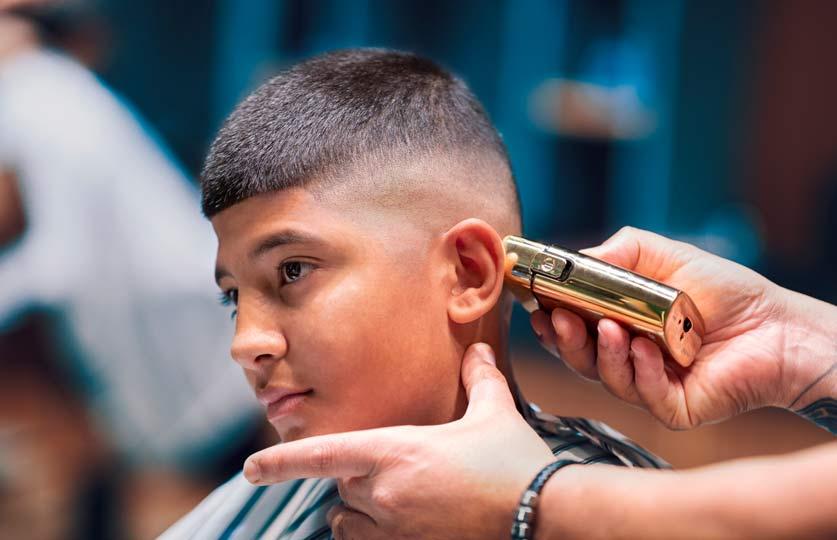 Boys skin fade haircut
