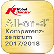 Siegel All-on-4 Kompetenzzentrum 2017/2018