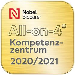 Siegel All-on-4 Kompetenzzentrum 2020/2021