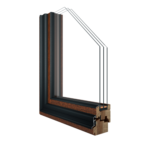 R-7 SDH™ Simulated Double Hung Passive House window rendering