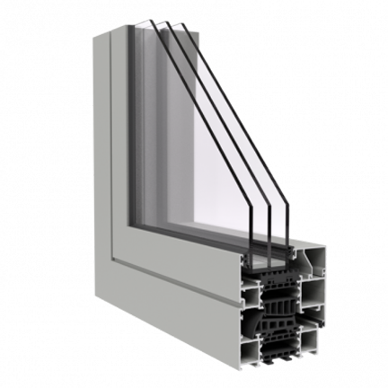 R-8 Zola Thermo Alu90™ Passive House window rendering