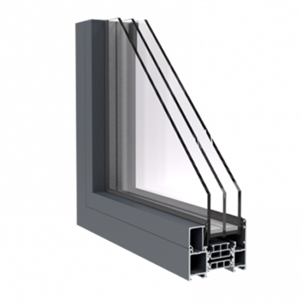 R-7 Zola Thermo Alu75™ window rendering