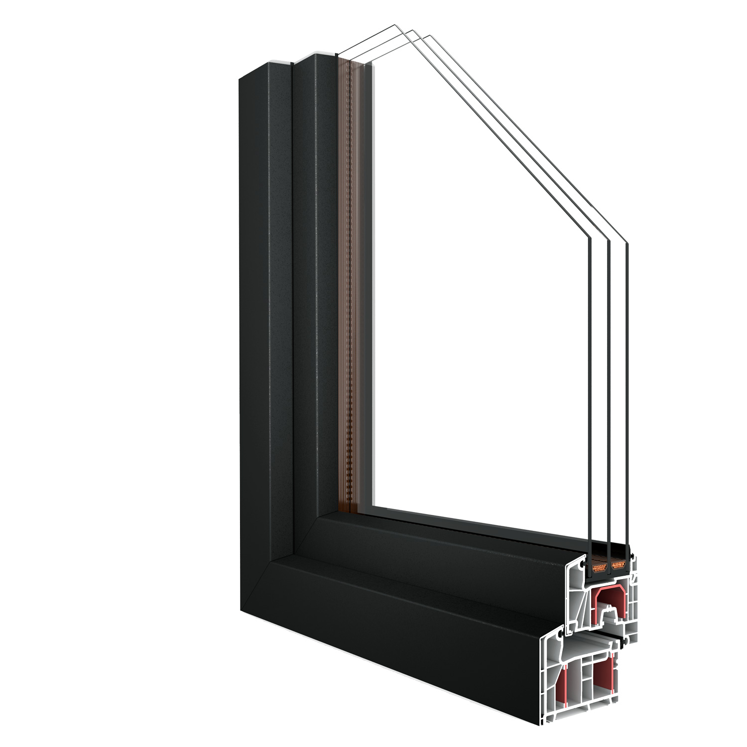 R-7 Zola Thermo Clad uPVC™ window rendering