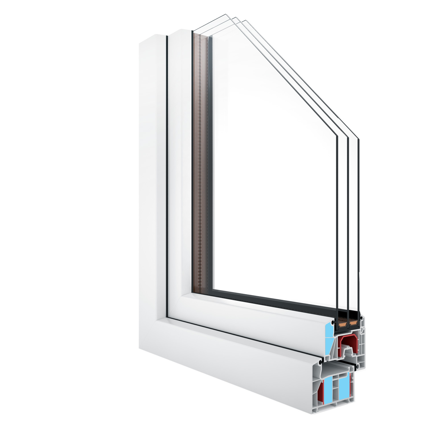 R-8 Zola Thermo Plus uPVC™ Passive House window rendering