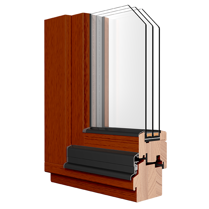 R-7 Zola Thermo Wood™ window rendering