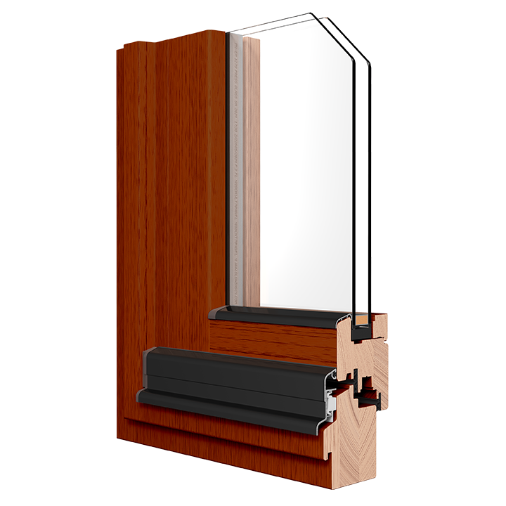 R-4.5 Zola Classic Wood™ window rendering