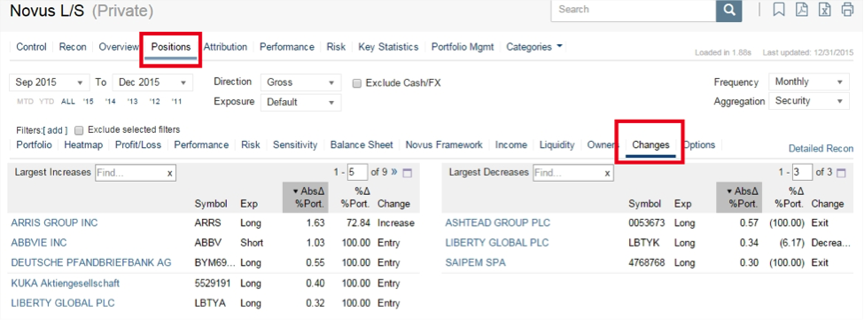 hedge fund changes