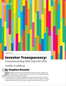investor transparency