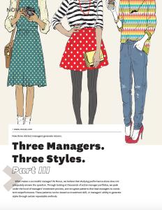 three managers three styles part III