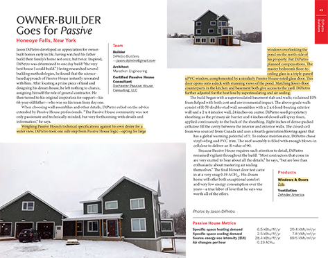 Owner-Builder Goes for Passive