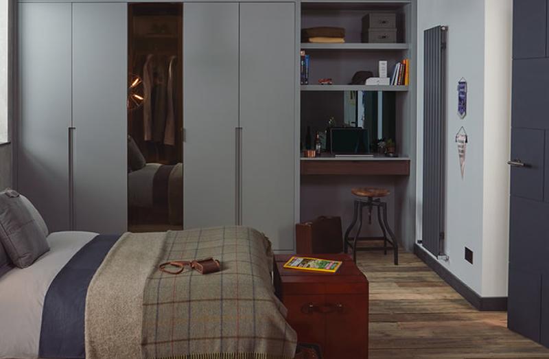 Nia grey bedroom design