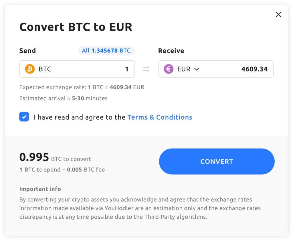 youhodler travel convert crypto