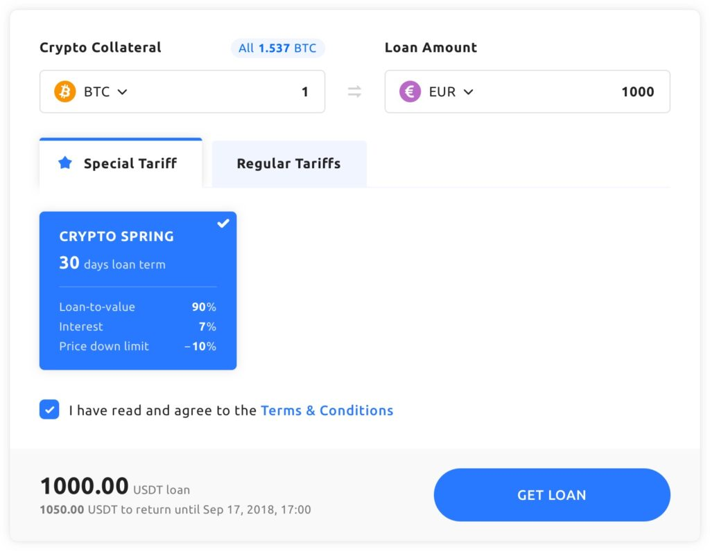 youhodler travel get crypto loan