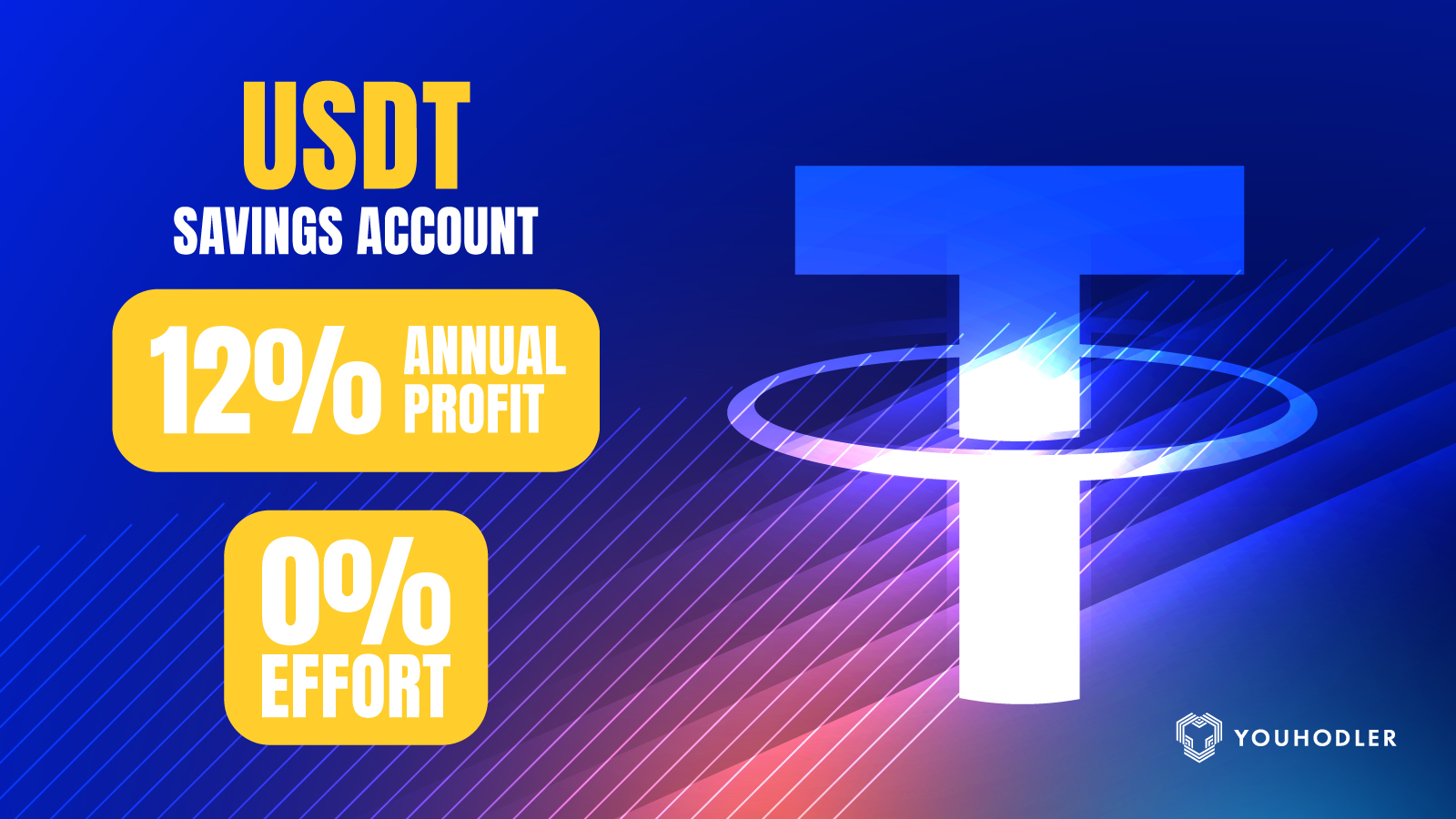 YouHodler's USDT Savings Account lets users deposit USDT into a wallet on the platform and earn up to 12% per year.