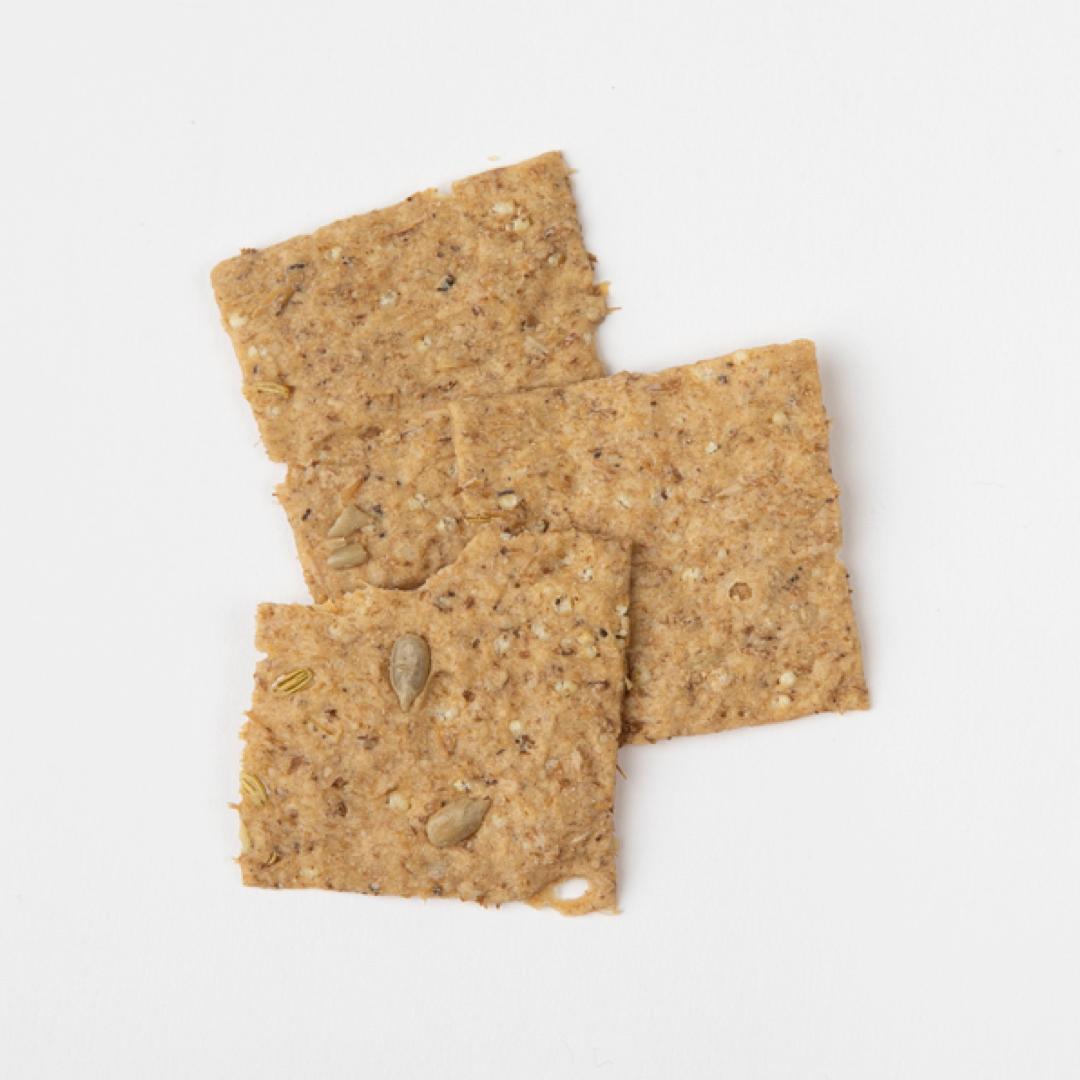 Crackers drêches, épeautre, fenouil et poivre