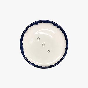 Porte savon en céramique bleu