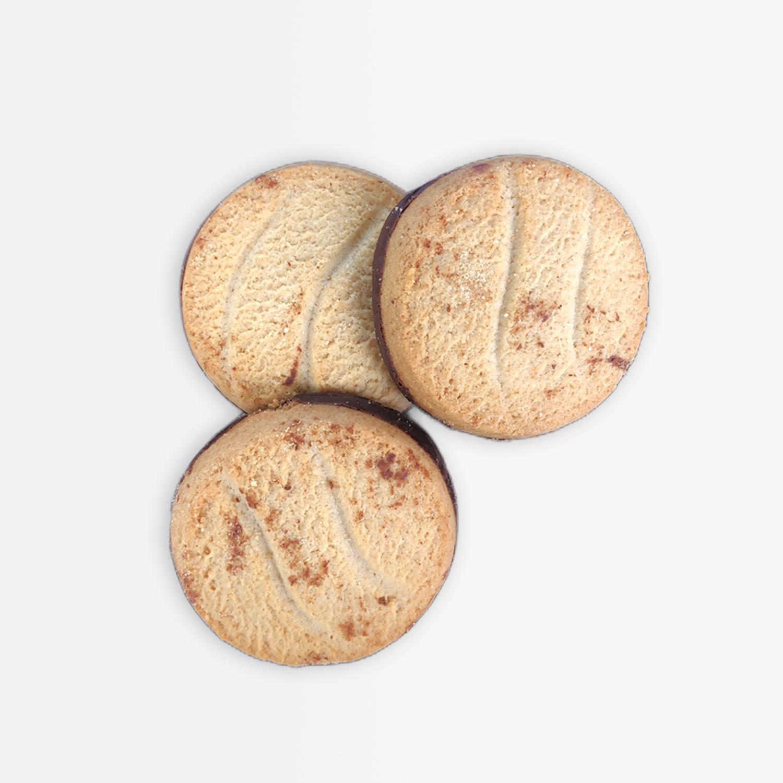 Biscuits nappés au chocolat noir