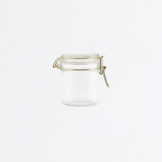 Bocal en verre fermeture mécanique moyen