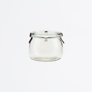 Bocal en verre loquets métalliques petit