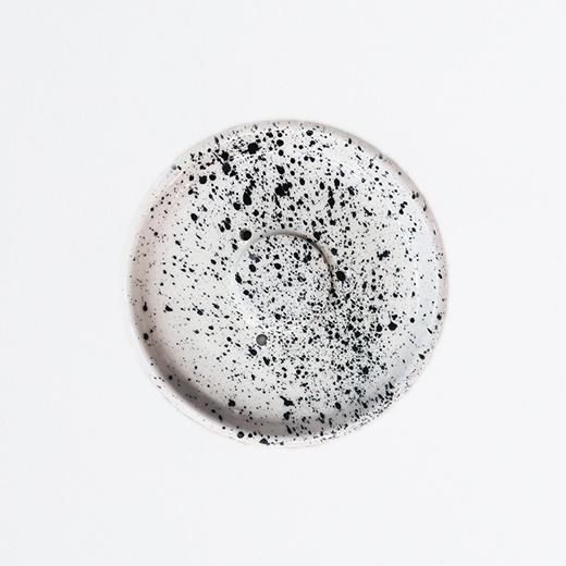 Porte savon en céramique moucheté