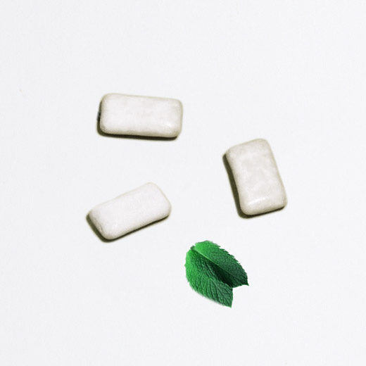 chewing gum menthe verte