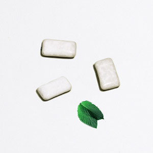 Chewing-gum naturel menthe verte
