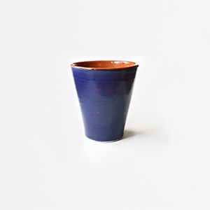 Tasse en céramique bleu