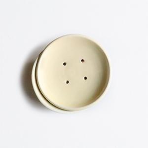 Porte savon en céramique jaune