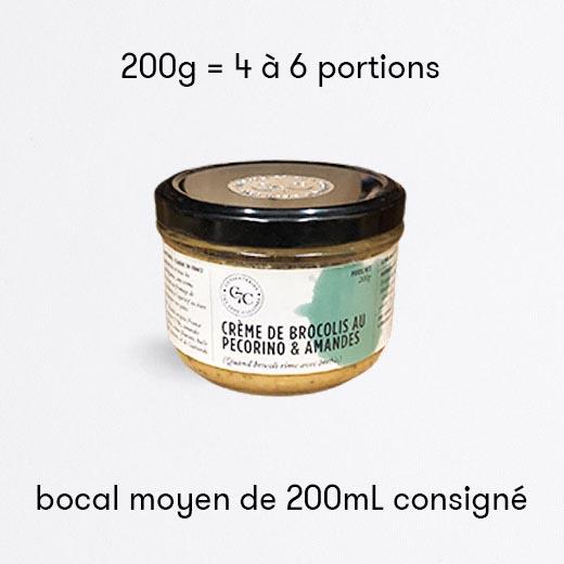 Crème de brocolis au pecorino et amandes
