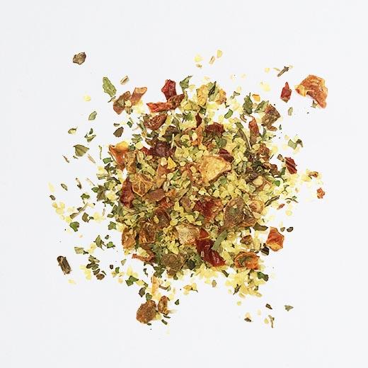 Taboulé méditerranéen poivrons, menthe, citron
