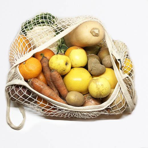 Grand panier de fruits et légumes bio