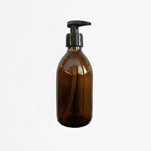 Flacon pompe verre ambré