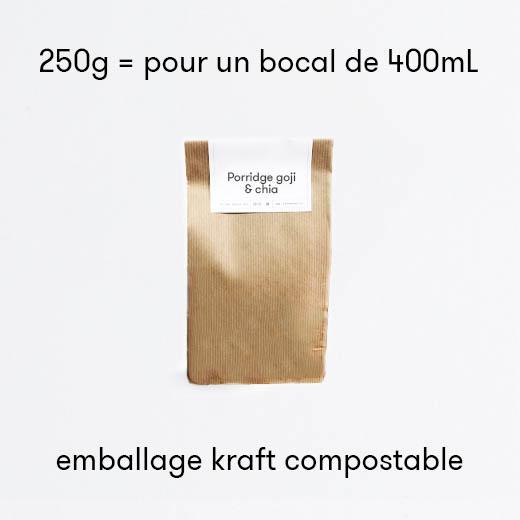 Porridge de Goji chia et mûres blanches