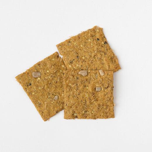 Crackers drêches chataigne curcuma