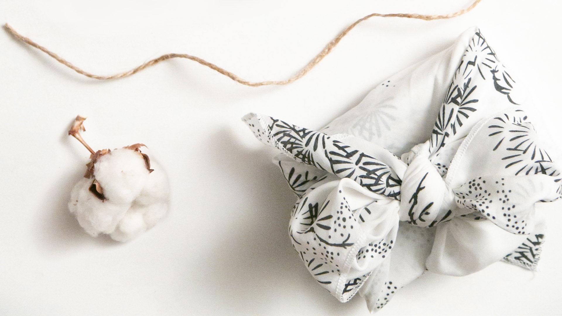 Emballage cadeau réutilisable furoshiki