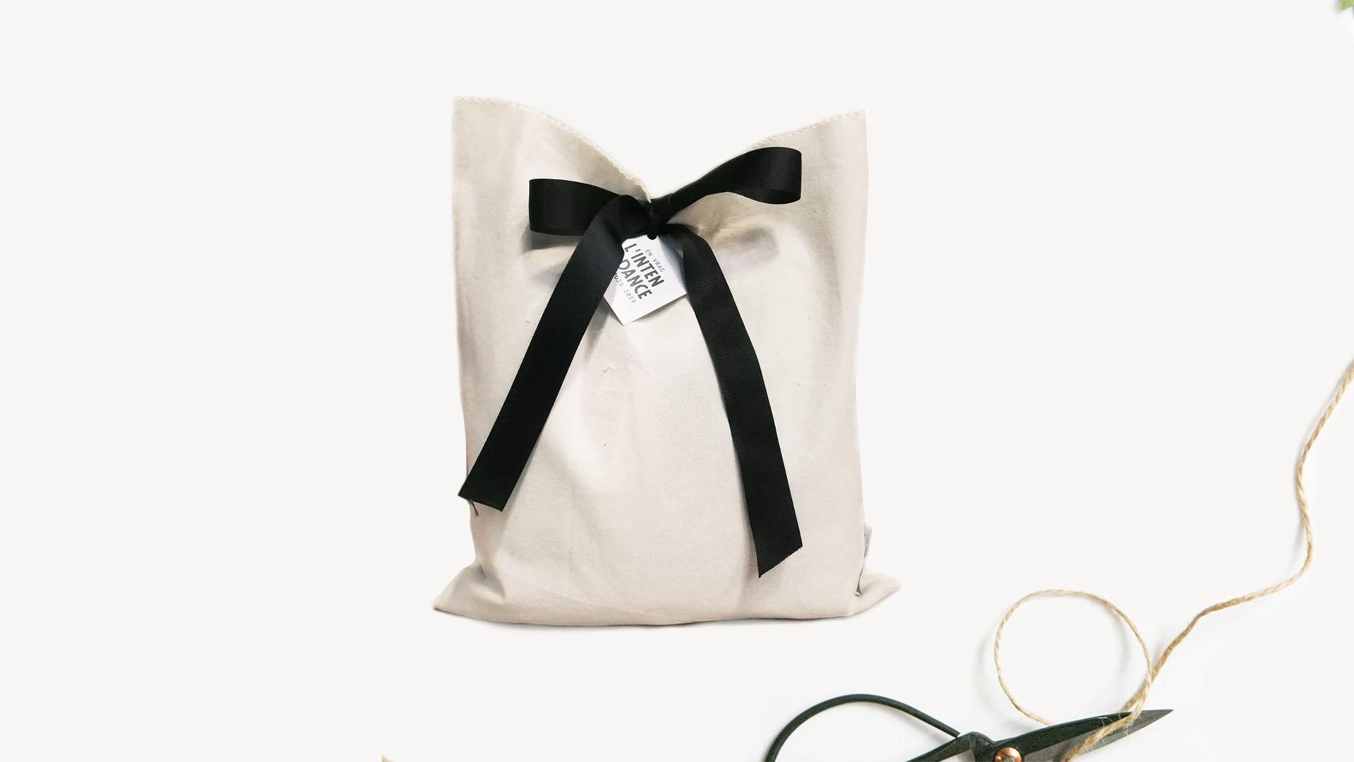 Alternative zéro déchet emballage cadeau durable