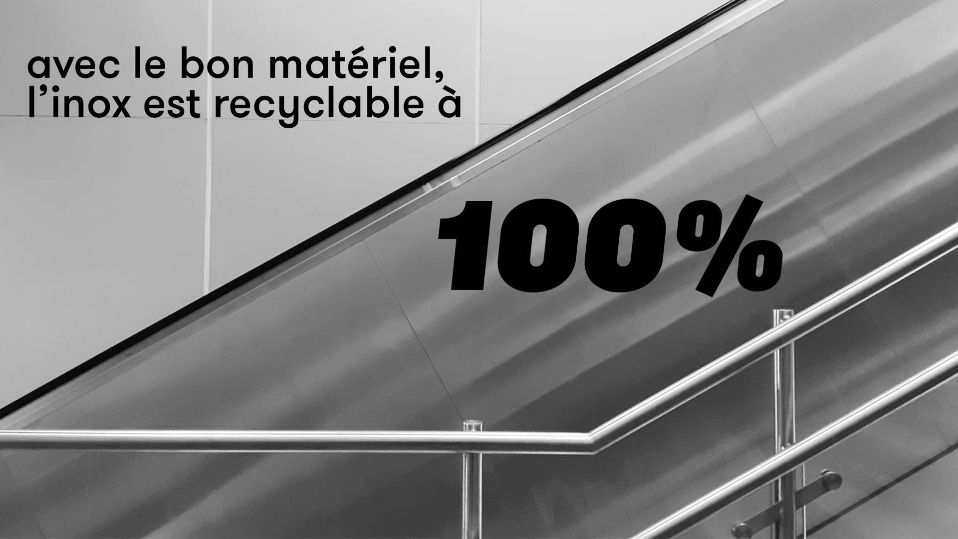 Inox durable zéro déchet acier inoxydable recyclable